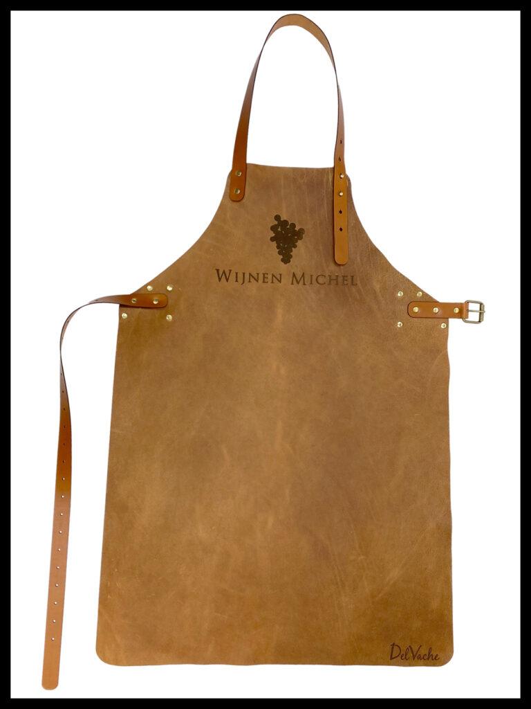 DelVache Leather apron FireMaster Raw aniline full grain